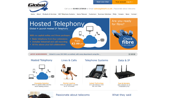 Old business telephone system website
